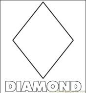 picture regarding Printable Diamond Shape referred to as Diamond Form Template Printable free of charge impression