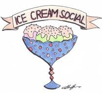 Clipart of Ice Cream Social
