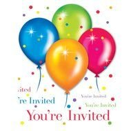 Colorful Birthday invitation clipart