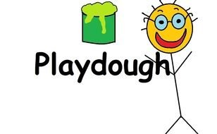 inscription 'Playdough' in the picture