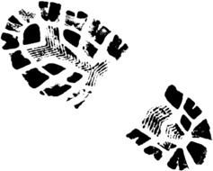 Army Boot Print as a picture for a clipart