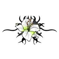 Lily Flower, Tattoo Design
