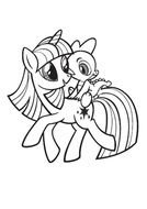 coloring page with My Little Pony characters
