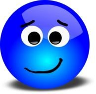 blue sad smiley as picture for clipart