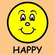 Happy yellow face clipart