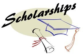 Scholarships, academic cap and diploma, drawing