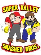 two cartoon bad men, smashed bros