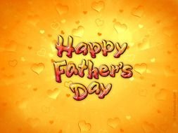 yellow Happy Fathers Day greeting card