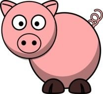Clipart of Pink Pig