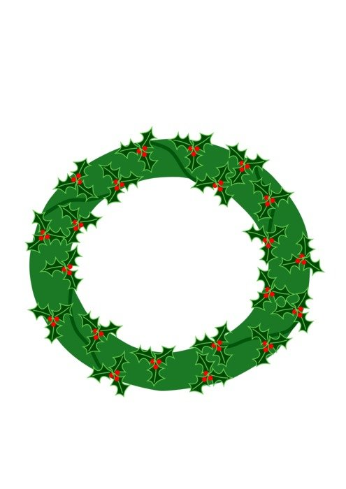 isolated evergreen wreath