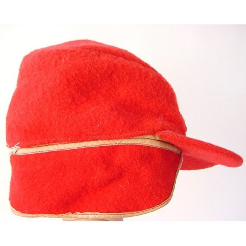 1206ef2302285 Vintage Elmer Fudd Red Wool Hunting Hat With Convertible Ear Flaps ...