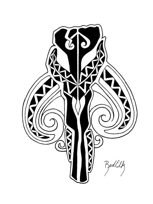drawn tattoo design