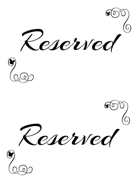 printable tag RESERVED