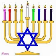 Clipart of candles for Hanukkah 2013