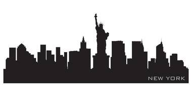 City Skyline Silhouette drawing