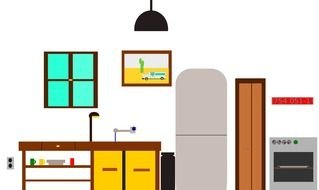 drawing of kitchen furniture