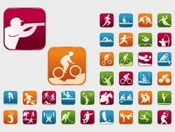 Sports, set of colorful Icons