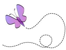 lilac butterflies drawing