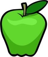 Green Apple drawing