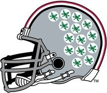 ohio state helmet with stickers