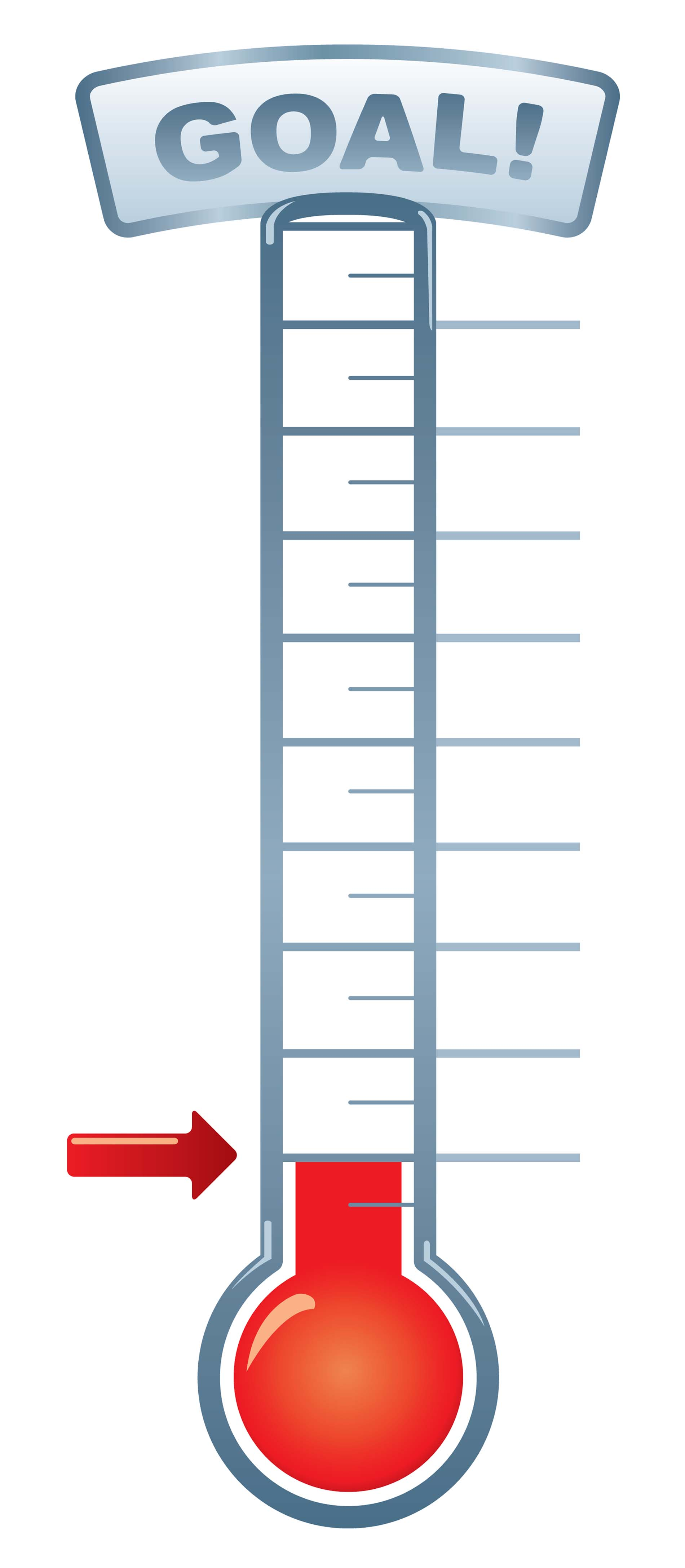 Printable Fundraising Goal Thermometer Template Read More
