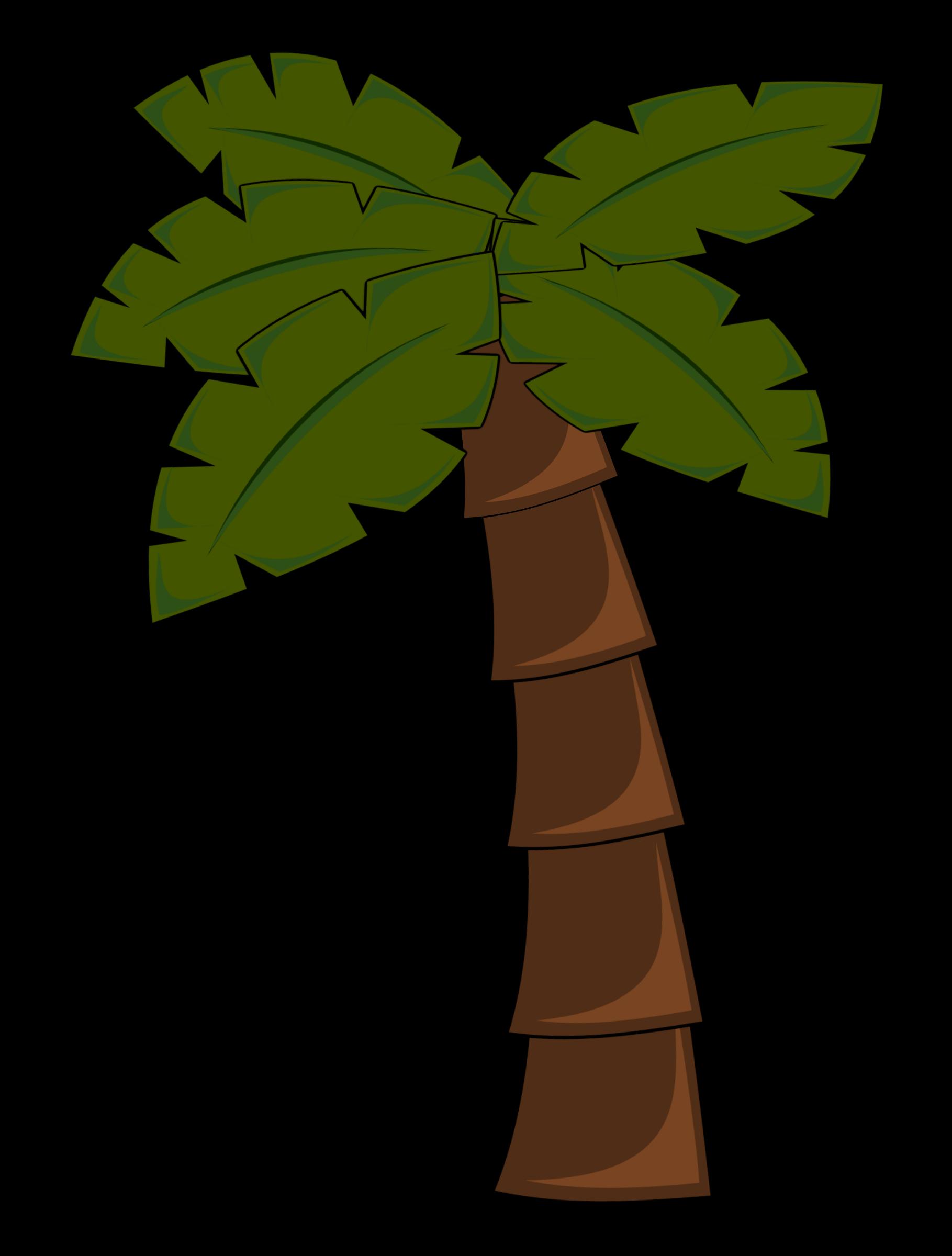 Palm Tree Leaves Drawing Free Image