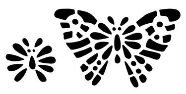 black butterfly and insect as a picture for clipart