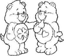 black and white drawing of teddy bears