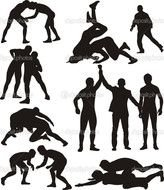 clipart of the men silhouettes