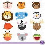 Wild Animals Cute Jungle Zebra Tiger N2
