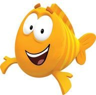 Smiling colorful fish clipart