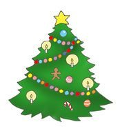 Shining Christmas tree clipart