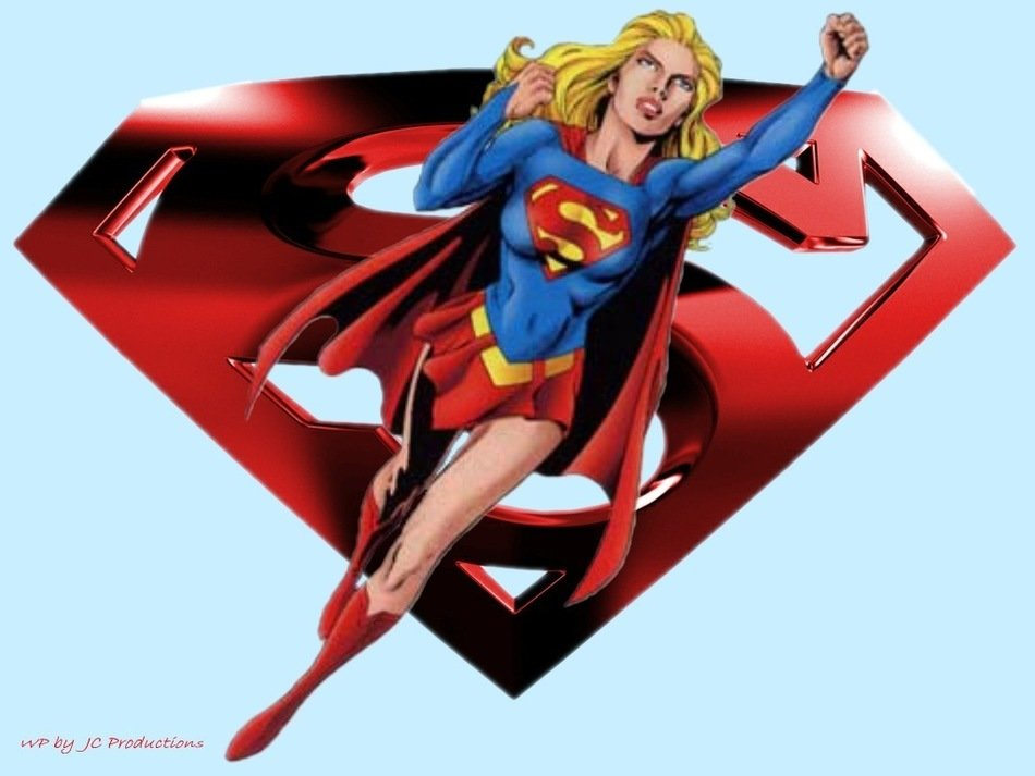 cartoon supergirl