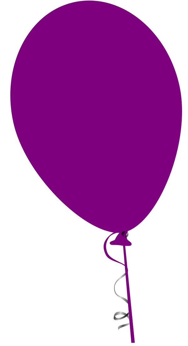isolated purple balloon