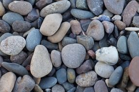 large pebbles on the beach