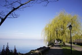 Montreux lake in Switzerland