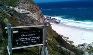 sign on the coast in south africa