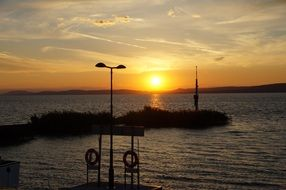sunset at lake balaton, Hungary