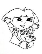 Dora Coloring Pages 02