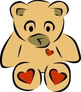 Bear amp Heart Clip Art