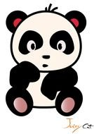 Cute Cartoon Panda Bears N2
