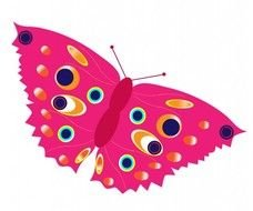 Colorful Butterfly Clip Art