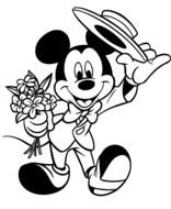 Mickey Mouse Valentines Day Coloring Pages drawing