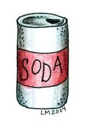 Soda red Can drawing