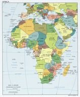 colored map of Africa