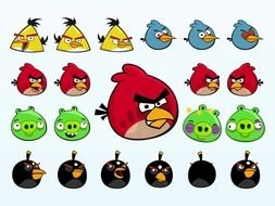 Angry Birds Characters drawing