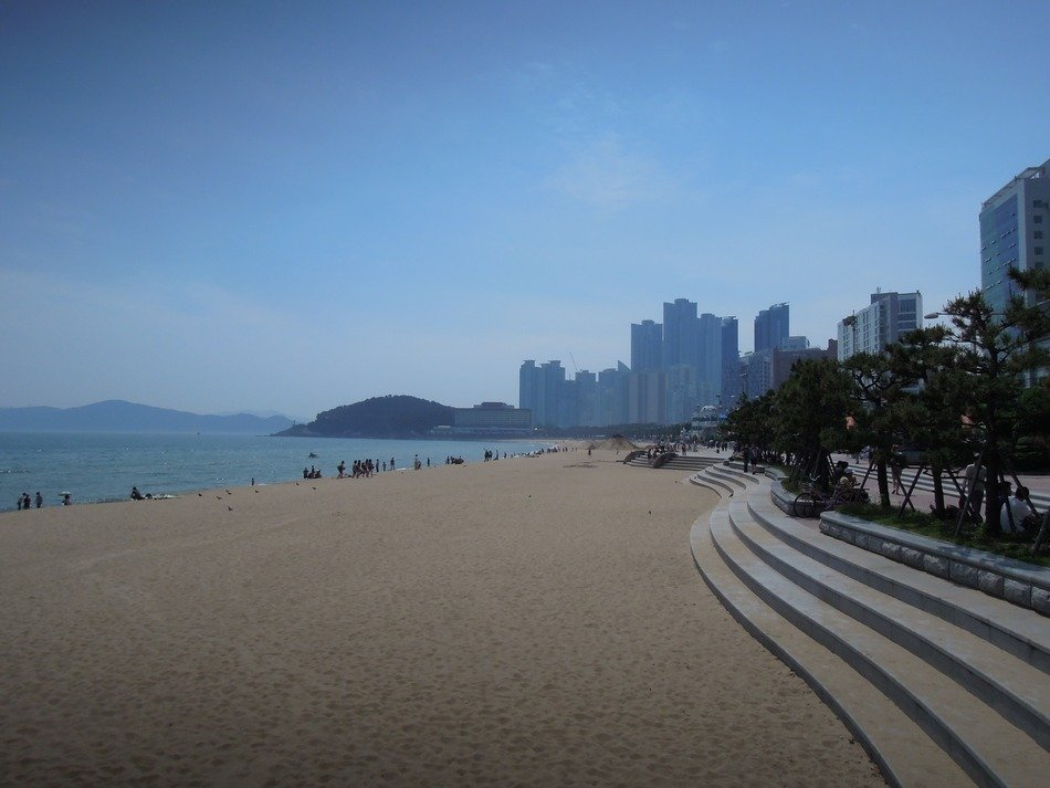 panorama of Haeundae beach