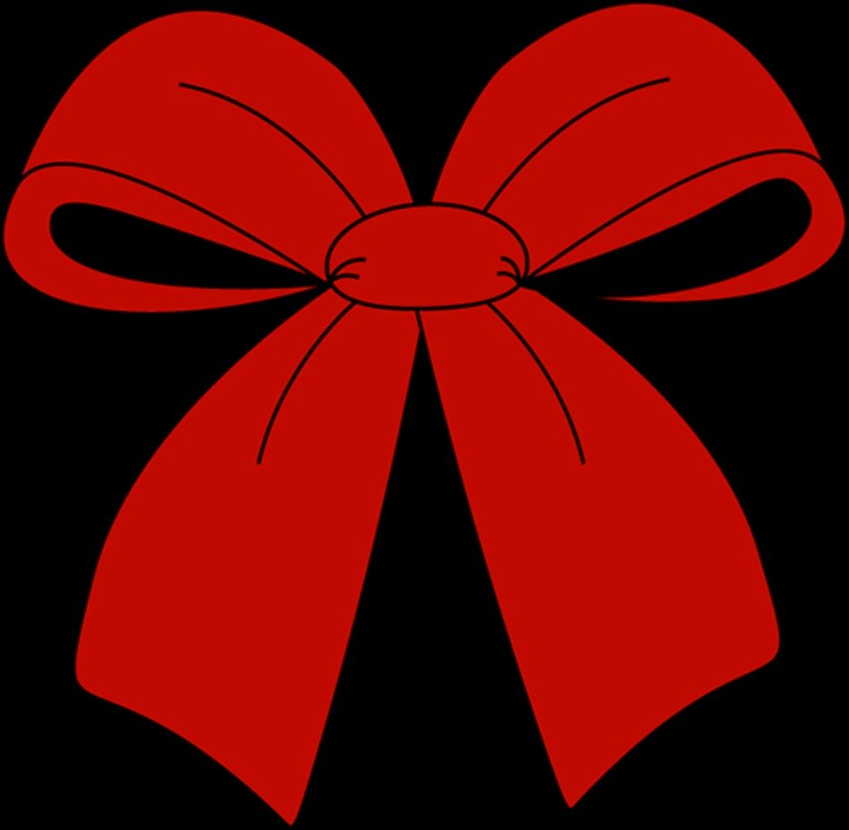 Red Christmas Bow Clip Art