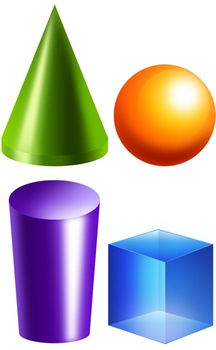 3d colorful figures as a picture for clipart