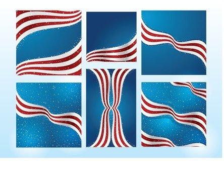 American Flag collage drawing
